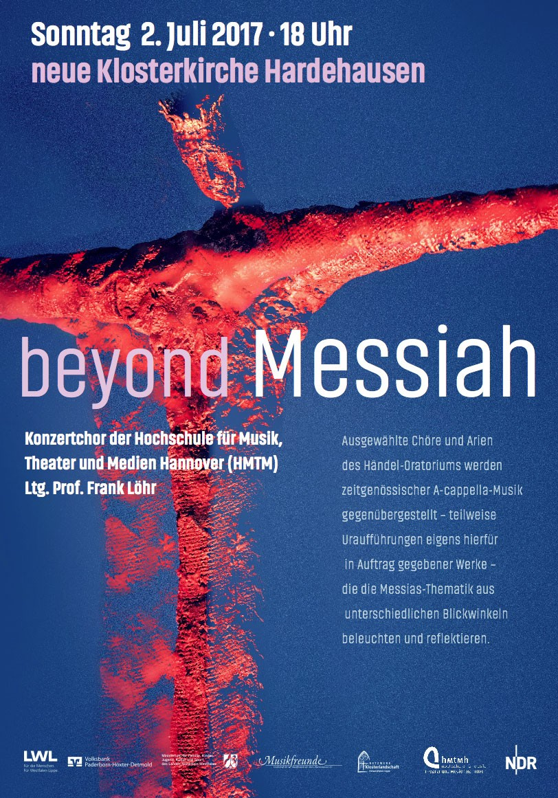 "Plakat des ""beyond Messiah"" Konzertes"